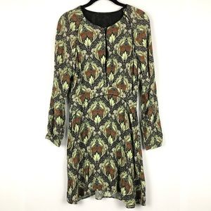 🎃Zara Fall Long Sleeve Dress Size Large